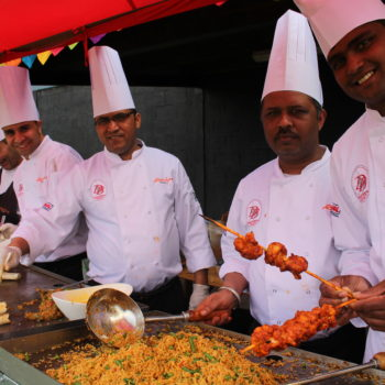 indian live food stations